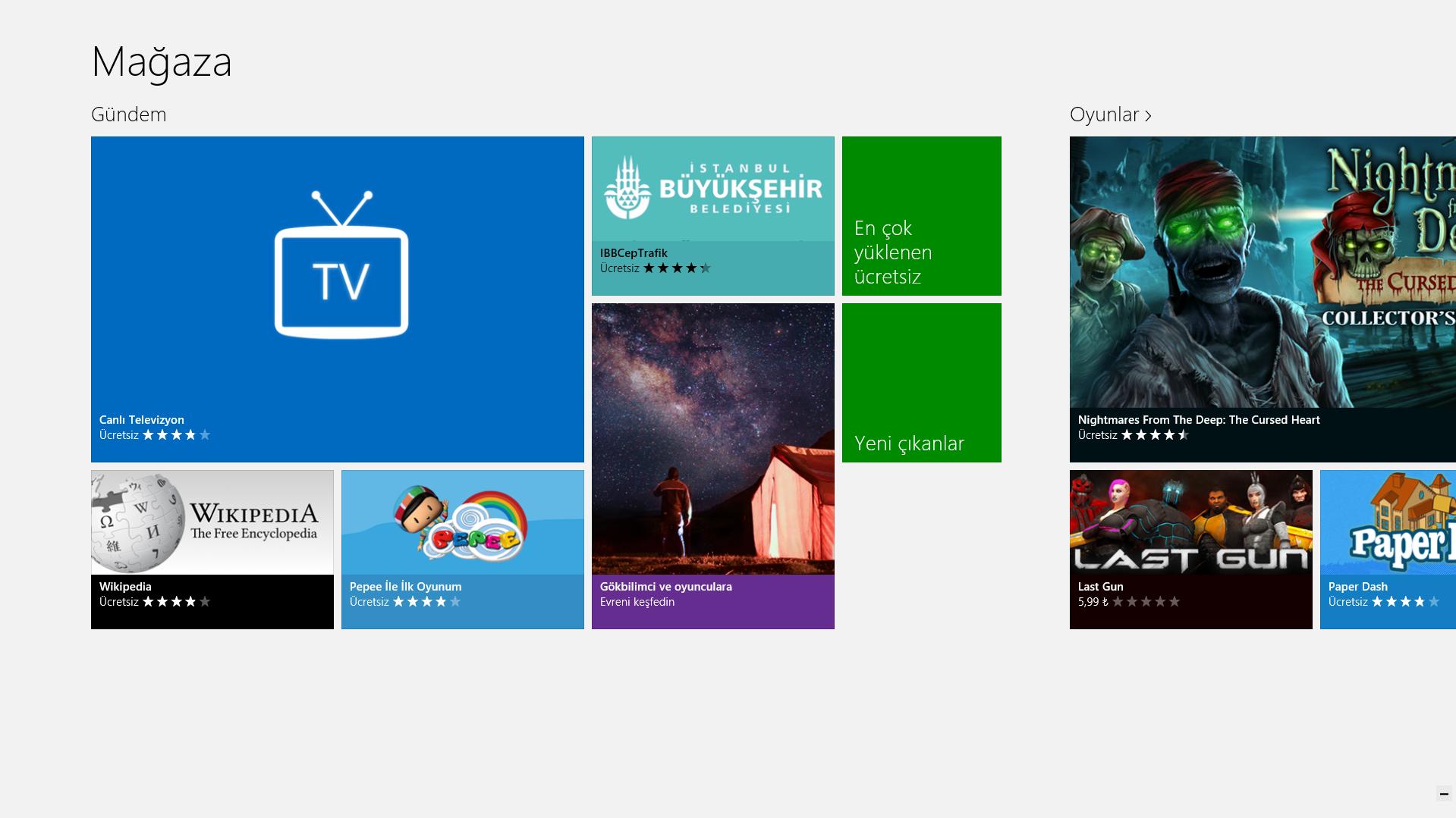 Canlı Televizyon, Windows 8 Türkiye Mağazası Gündeminde!